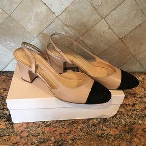 Ivanka Trump Liah shoes leather suede 9 slingbacks